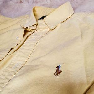 Vintage yellow Ralph Lauren button down